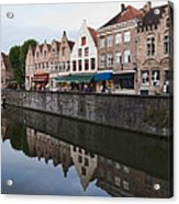 Rozenhoedkaai Bruges Acrylic Print