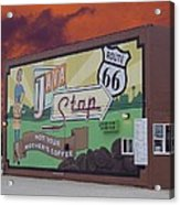 Rt 66 Dwight Il Java Stop Acrylic Print