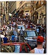 Rua 25 De Marco - Sao Paulo Acrylic Print