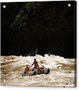 Rubber Raft Running Rapids Acrylic Print