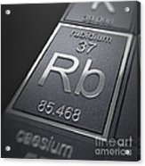 Rubidium Chemical Element Acrylic Print