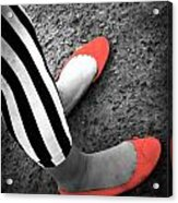 Rubies  And Stripes  Acrylic Print