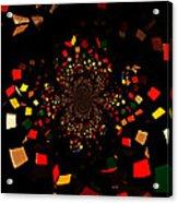 Rubik's Explosion Acrylic Print by Scott Allison