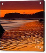 Ruby Beach Afterglow Acrylic Print