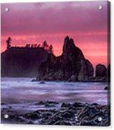 Ruby Beach Last Light Acrylic Print