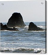 Ruby Beach Sea Stack Acrylic Print