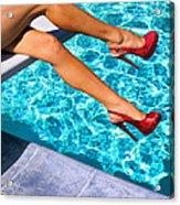 Ruby Heels Not In Kansas Palm Springs Acrylic Print