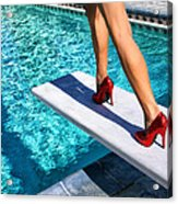Ruby Heels Ready For Take-off Palm Springs Acrylic Print