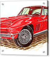 Ruby Red 1966 Corvette Stingray Fastback Acrylic Print