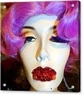 Ruby Red Lips Acrylic Print