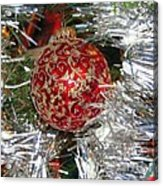 Ruby Red Ornament Acrylic Print