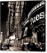 Ruby Tuesday's Times Square - New York At Night Acrylic Print