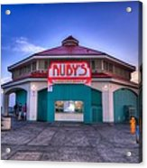 Ruby's Diner On The Pier Acrylic Print