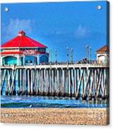 Ruby's Surf City Diner - Huntington Beach Pier Acrylic Print