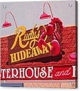 Rudy's Hideaway Acrylic Print