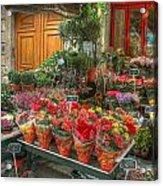 Rue Cler Flower Shop Acrylic Print