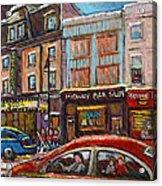 Rue Saint Laurent Club Soda Montreal Acrylic Print