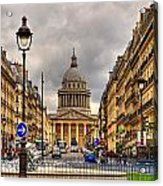 Rue Sufflot In Paris Acrylic Print
