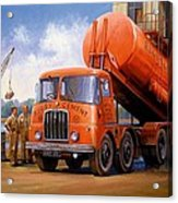 Rugby Cement Thornycroft. Acrylic Print by Mike  Jeffries