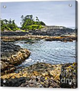 Rugged Coast Of Pacific Ocean On Vancouver Island Acrylic Print