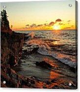 Rugged Shore Fall Acrylic Print