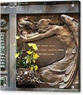 Ruggeri Roncoroni Guzzi Grave Marker Monumental Cemetery Milan Acrylic Print