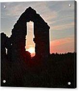 Ruin Of A Hunting Lodge Near Lough Easkey In County Sligo Ireland Acrylic Print