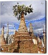 Ruined Pagodas At Shwe Inn Thein Paya Acrylic Print
