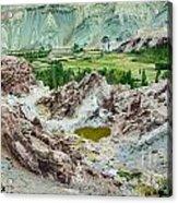 Ruins At Basgo Monastery Ladakh India Acrylic Print