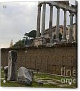 Ruins In The Roman Forum Rome Italy Acrylic Print