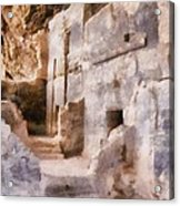 Ruins Acrylic Print by Michelle Calkins