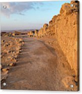 Ruins Of A Fort, Masada, Israel Acrylic Print