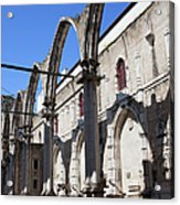 Ruins Of Carmo Convent In Lisbon Acrylic Print