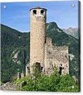 ruins of Chatelard castle Acrylic Print