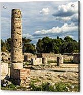 Ruins Of Paestum Acrylic Print