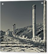 Ruins Of Roman-era Columns Acrylic Print