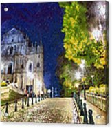 Ruins Of St. Paul's During At Night Acrylic Print