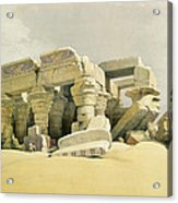 Ruins Of The Temple Of Kom Ombo Acrylic Print by David Roberts
