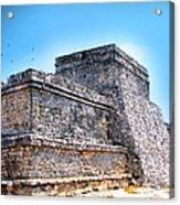 Ruins Of Tulum Mexico Acrylic Print