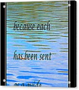 Rumi Quote 2 - Grateful - Guide Acrylic Print by Barbara Griffin
