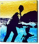 Run Daddy Run Acrylic Print