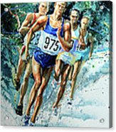 Run For Gold Acrylic Print