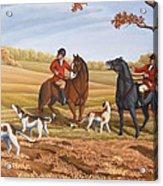 Run Fox Run Hunting Painting Commission Acrylic Print