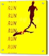 Run Run Run Acrylic Print by Brian D Meredith