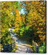 Runner's Path In Autumn Acrylic Print