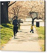 Running Blossoms Acrylic Print