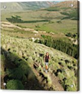 Running In Esquel, Chubut, Argentina Acrylic Print