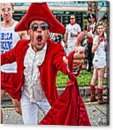 Running Of The Bulls New Orleans Matador Acrylic Print