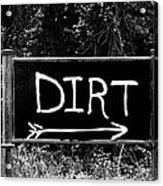 Rural Area Sign Acrylic Print