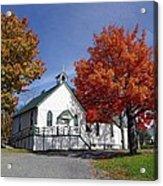 Rural Church In Autumn Acrylic Print